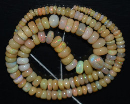 73.20 Ct Natural Ethiopian Welo Opal Beads Play Of Color