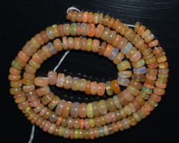 55.00 Ct Natural Ethiopian Welo Opal Beads Play Of Color