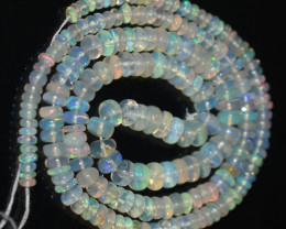 42.80 Ct Natural Ethiopian Welo Opal Beads Play Of Color