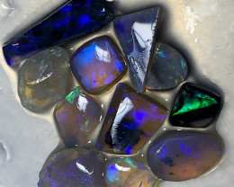 NICE RUBS; Lightning Ridge Rub Opals,#1066