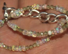 8 Crts Natural Opal & Lapis Lazuli Beads Bracelet 664