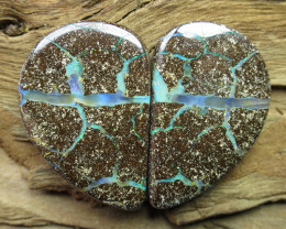 75cts, BOULDER OPAL~PATTERN PAIR