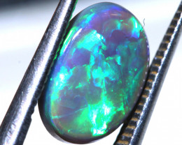N3- 1.76  CTS -DOUBLE SIDED BLACK OPAL POLISHED STONE L. RIDGE TBO-9689