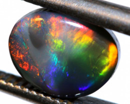 N3-1.23 -CTS  L.RIDGE BLACK OPAL  POLISHED STONE TBO-9712