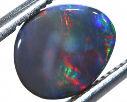N3-1.23 -CTS  L.RIDGE BLACK OPAL  POLISHED STONE TBO-9716
