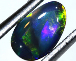 N 3-0.87 -CTS  L.RIDGE BLACK OPAL  POLISHED STONE TBO-9717