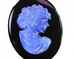 16.50 CTS CAMEO CARVING WITH OPAL - HAND CARVED OPJ 2339