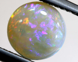 0.93 CTS -  WHITE OPAL POLISHED CUT STONE  TBO-9746