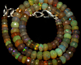 65 Crts Natural Ethiopian Welo Faceted Opal Beads Necklace 76