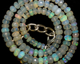 82 Crts Natural Ethiopian Welo Faceted Opal Beads Necklace81