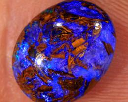 2.9ct 11.5x9mm Yowah Boulder Opal Wood Fossil [LOB-2879]