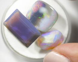 Three unique ridge  faceted opals OPJ 2360