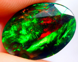 1.46cts SUPER-TOP AAA Ethiopian Black Faceted Opal JU76