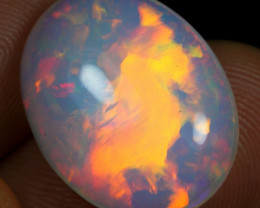9.30cts Volcano Fire Pattern Natural Ethiopian Welo Opal