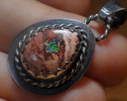 36.11ct Mexican Solid Opal .925 Silver Pendant