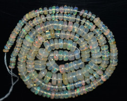 45.80 Ct Natural Ethiopian Welo Opal Beads Play Of Color