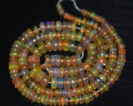 38.70 Ct Natural Ethiopian Welo Opal Beads Play Of Color