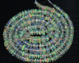 34.30 Ct Natural Ethiopian Welo Opal Beads Play Of Color