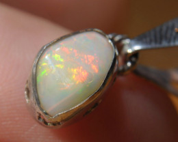 6.95ct Blazing Welo Solid Opal .925 Sterling