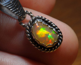 8.45ct Sterling .925 Silver Welo Solid Opal Pendant