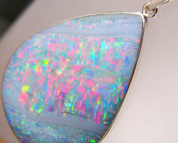 Opal Pendant Genuine Large Natural Australian Silver Jewelry 19.7ct Necklac