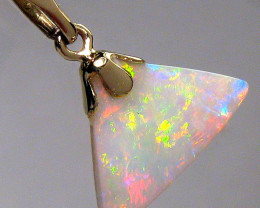 Natural Australian Solid Opal Pendant Jewelry Gift 2.45 carat 14k Gold Gem