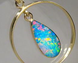 Australian Opal Pendant 14k Gold Genuine Natural Mined 8.15ct Birthday Gift