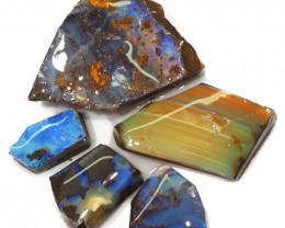 263.15CTS  Boulder Opal Rough/Rub Pre-Shaped PARCEL --  S1166
