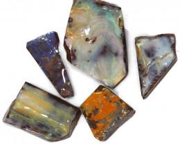 337.15CTS  Boulder Opal Rough/Rub Pre-Shaped PARCEL --  S1167