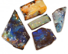 362.10CTS  Boulder Opal Rough/Rub Pre-Shaped PARCEL --  S1168