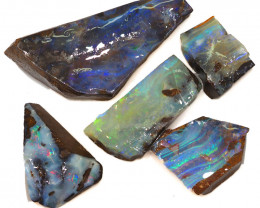 222CTS  Boulder Opal Rough/Rub Pre-Shaped PARCEL --  S1169