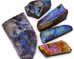 203.95CTS  Boulder Opal Rough/Rub Pre-Shaped PARCEL --  S1173