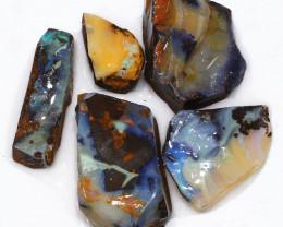 235.40CTS  Boulder Opal Rough/Rub Pre-Shaped PARCEL --  S1175