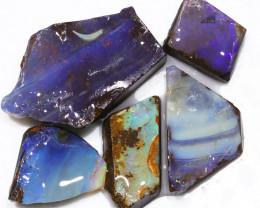 152.20CTS  Boulder Opal Rough/Rub Pre-Shaped PARCEL --  S1177