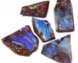 147.65CTS  Boulder Opal Rough/Rub Pre-Shaped PARCEL --  S1182