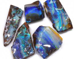 127.70CTS  Boulder Opal Rough/Rub Pre-Shaped PARCEL --  S1184