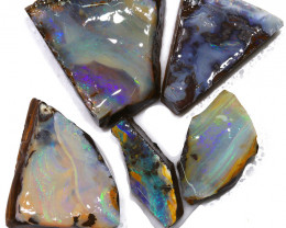 248.85CTS  Boulder Opal Rough/Rub Pre-Shaped PARCEL --  S1186