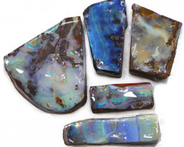 182.75CTS  Boulder Opal Rough/Rub Pre-Shaped PARCEL --  S1187