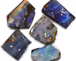 156.10CTS  Boulder Opal Rough/Rub Pre-Shaped PARCEL --  S1189