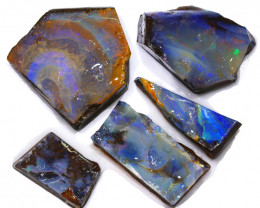 253.25CTS  Boulder Opal Rough/Rub Pre-Shaped PARCEL --  S1190