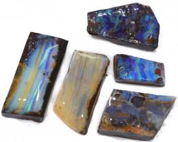 214.55CTS  Boulder Opal Rough/Rub Pre-Shaped PARCEL --  S1193