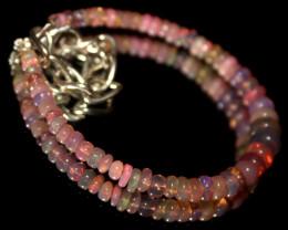 17 Crts Natural Welo Smoked Opal Beads Bracelet 790