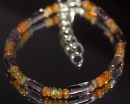 21 Crts Natural Welo Opal & Amethyst Bracelet 797