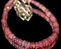 13 Crts Natural Welo Smoked Opal Beads Bracelet 783