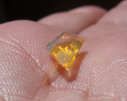 1.12 Ct Faceted Contraluz Fire Mexican Opal