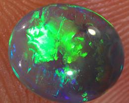 0.95ct 8x6.5mm Solid Lightning Ridge Dark Crystal Opal [LO-1717]