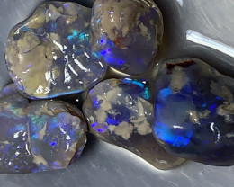 SELECT ROUGH FOR CUTTERS; 31 CTs Lightning Ridge Rough Opals,#1148