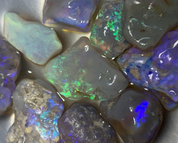 NICE AND BRIGHT ROUGH FOR CUTTERS; 34 CTs Lightning Ridge Rough Opals,#1156