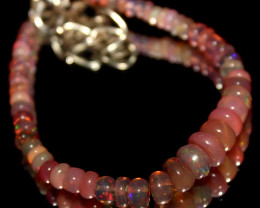 20 Crts Natural Welo Smoked Opal Beads Bracelet 771
