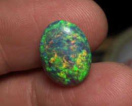 8.42ct Lightning Ridge Gem Black Crystal Opal LRS934